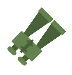 binoculars look zoom observe vector image