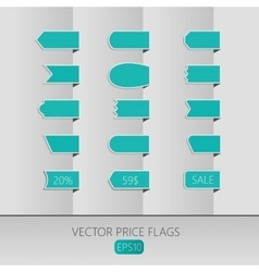 Blue price ribbons Sale tags vector image vector image