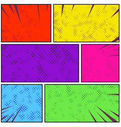 bright colorful retro style pop art comic page vector image