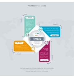 Business infographics concept with four stage vector image