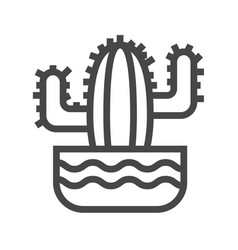 cactus thin line icon vector image