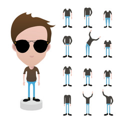 Character with different types of body bigtallfa vector
