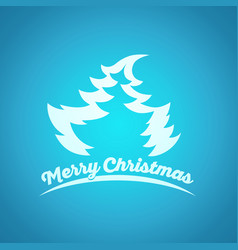 christmas and new year blue greeting card vector image
