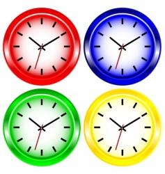 color wall clock vector image vector image
