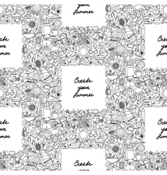 Create your Summer Seamless Pattern vector image vector image
