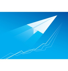 Flying paper airplane vector