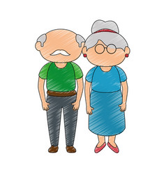 Grandmother and grandfather vector