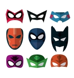 Icon set of Superhero mask Cartoon design vector image
