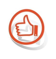 Like sign sticker orange vector