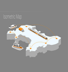 map wales isometric concept vector image