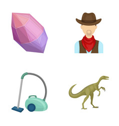 Mine cleaning and other web icon in cartoon style vector