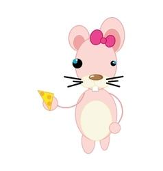 mouse animal cartoon vector image
