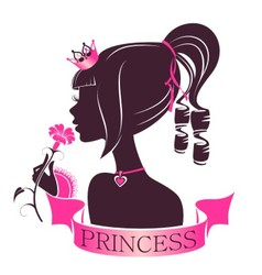 Portrait of a Princess with flower vector image vector image