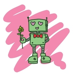 Robot heart t-shirt design collection vector