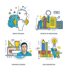 Search of knowledge training idea generation vector