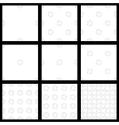 Set the seamless pattern of floorball balls vector