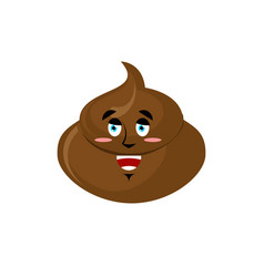 Shit happy emoji turd merry emotion isolated vector