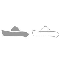 sombrero it is black icon vector image