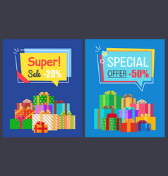 Super sale best prices discounts 20 50 off posters vector
