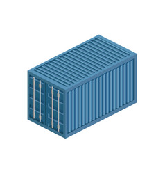 transport container isometric vector image vector image
