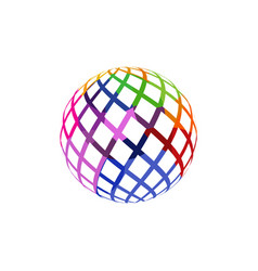 unusual colorful isolated logo frame of the ball vector image vector image