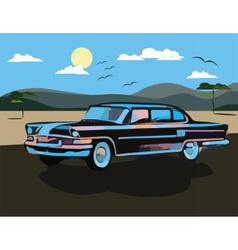 Vintage watercolor retro car vector