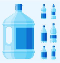 Water plastic bottle transparent mineral vector
