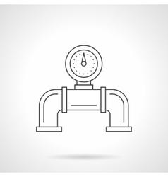 Pipeline gauge flat line icon vector image