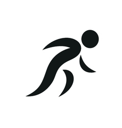 Running people simple symbol of run isolated vector