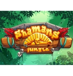 Jungle shamans vector image