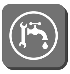 Plumbing rounded square icon vector