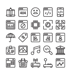 Web design and development colored icons 7 vector