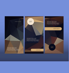 Vertical booklet layout templates dark brochure vector