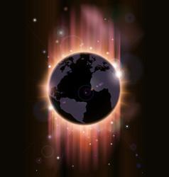 futuristic globe concept vector image