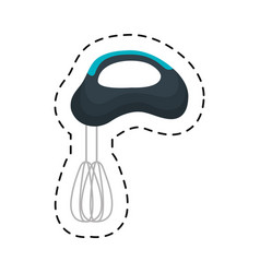 electric mixer kitchen isolated icon vector image