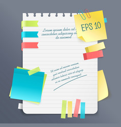 Paper note composition vector
