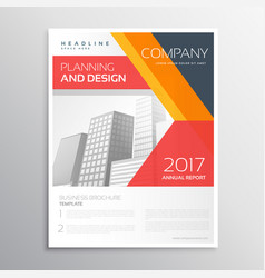 Company flyer design with colorful geometric vector