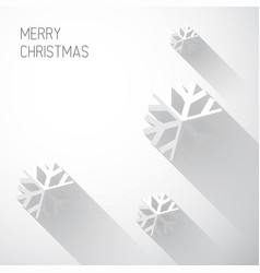 modern white christmas card with flat design vector image