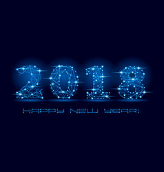 2018 happy new year letters vector image vector image