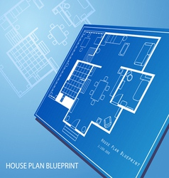 House plan blueprint text background vector image