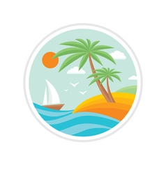 Summer holiday - travel logo vector