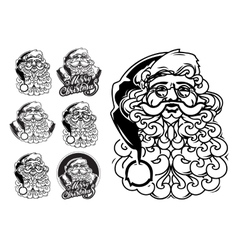 Santa claus hand drawn llustration sketch vector