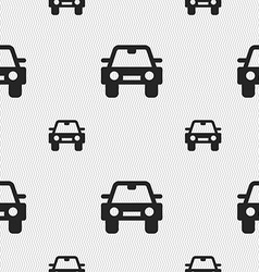 Auto icon sign seamless pattern with geometric vector