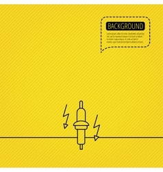 Spark plug icon car electric part sign vector