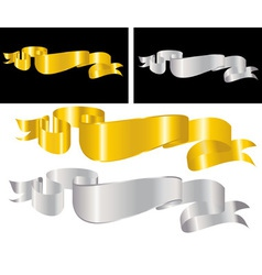 golden decorative ribbon vector image