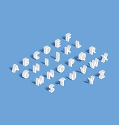 3d isometric alphabet vector image