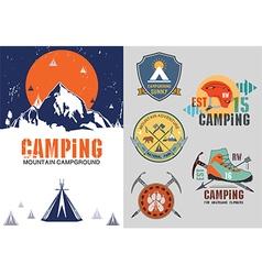 Set of vintage outdoor camp badges logo vector image
