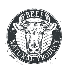 Cow logo design template beef or cattle vector