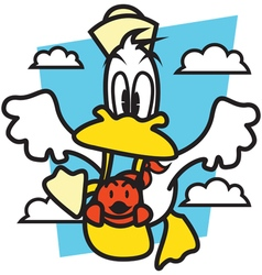 Fly duck vector
