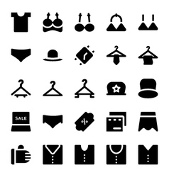 Clothes icons 12 vector